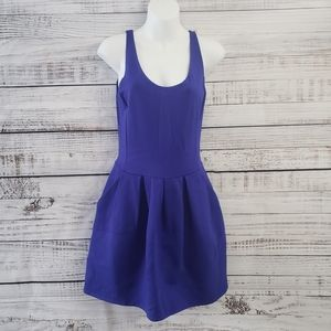 WILFRED Royal Blue Mini Dress with pockets size 6